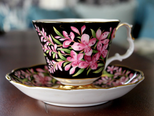 Royal Albert, Fireweed, Floral Teacup and Saucer, Provincial Flowers Series 15576