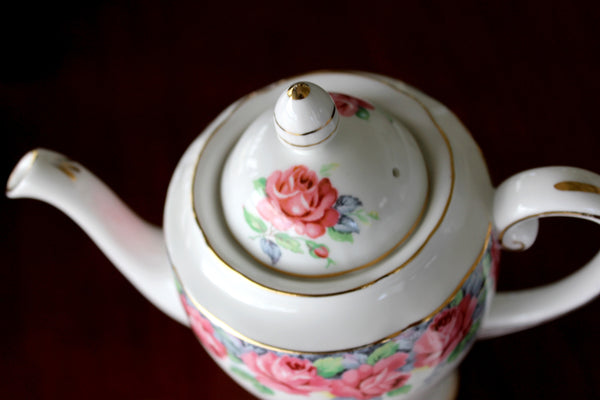 DEMITASSE, Teapot, Coffee Pot, Royal Standard, Rose of Sharon, Sugar and Creamer