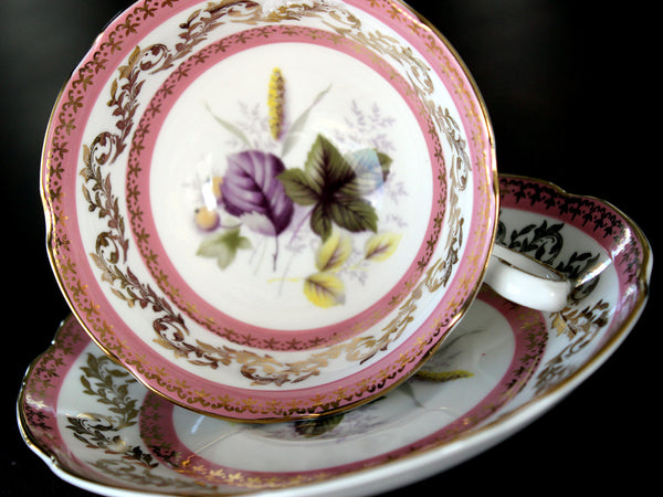 Royal Grafton Teacup, Wide Mouthed, Floral Interior, Vintage Cup and Saucer 15645