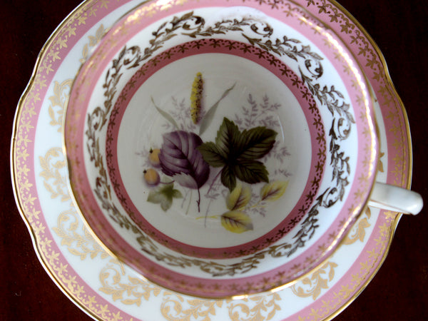 Royal Grafton Teacup, Wide Mouthed, Floral Interior, Vintage Cup and Saucer 15645 - The Vintage Teacup