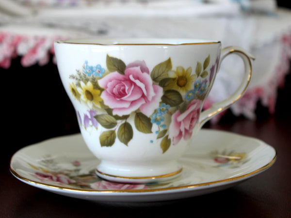 Winchester, Pink Roses, Teacup Saucer, English China 15723