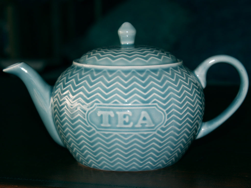 Housewares 2 Cup Teapot, Teal Tea Pot, Made in China 15756 - The Vintage Teacup
