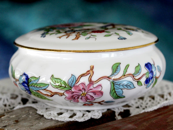 Aynsley Lidded Dish, Pembroke Pattern, Asiatic Birds & Flowers 15813 - The Vintage Teacup