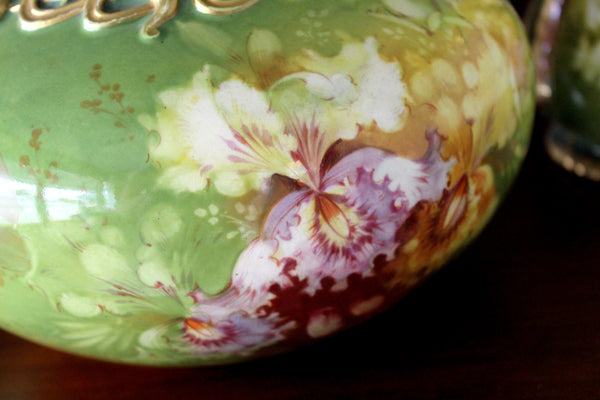 Antique Royal Bonn, Franz Anton Mehlem, Porcelain Vase & Bowl 15814 - The Vintage Teacup