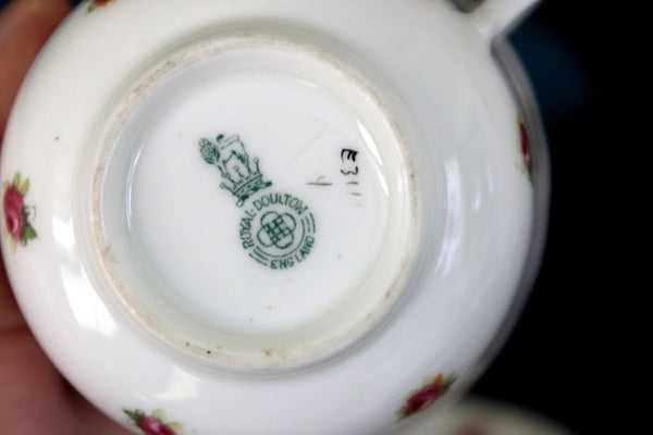 Royal Doulton, Rosebud Chintz, Tea Cup and Saucer, English Bone China 15852 - The Vintage Teacup