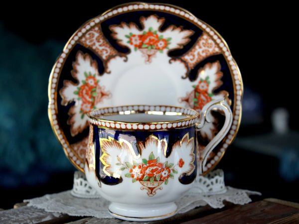 Royalty Teacup, Royal Albert, Imari Tea Cup & Saucer 15913 - The Vintage Teacup