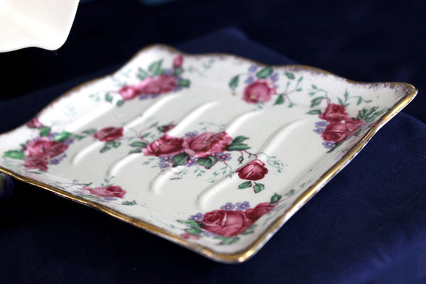James Kent Cheese Dish and Platter, Antique Cheese or Butter Dish 16021