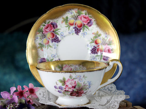 MISMATCHED Paragon Bone China Tea Cup & Saucer Fruit & Berries 16041
