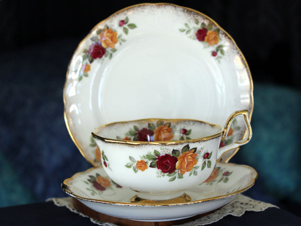 Arklow Trio Bone China, Irish Teacup, Saucer & Side Plate, Made in Ireland 16126