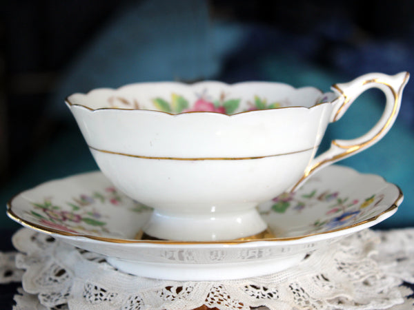 Royal Stafford, Wide Mouthed, Tea Cup & Saucer, Rochester Teacup 16302