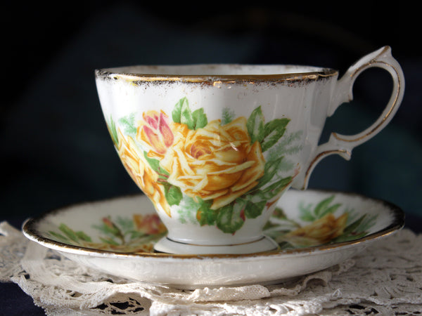 Royal Albert Cup & Saucer, Tea Rose Teacup, Vintage Tea Cups, Bone China 16340