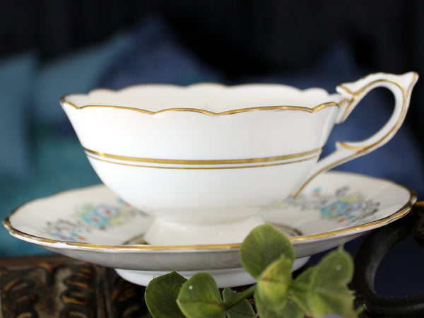 Royal Stafford, Wide Mouthed, Tea Cup & Saucer, Hand Painted Teacup 16504