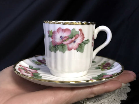 DEMITASSE Spode Teacup and Saucer, Demi / Espresso Bone China Tea Cup -K