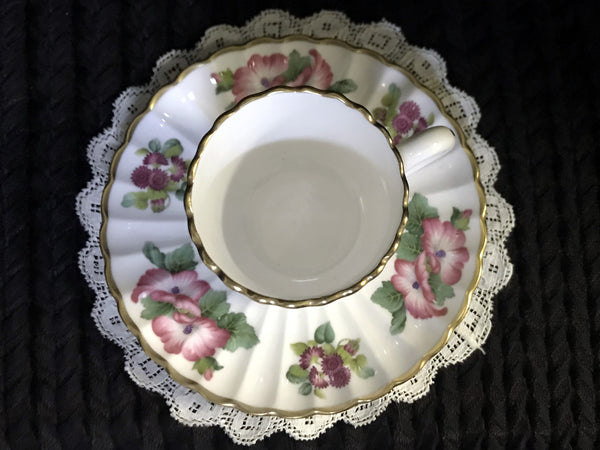 DEMITASSE Spode Teacup and Saucer, Demi / Espresso Bone China Tea Cup -K - The Vintage Teacup