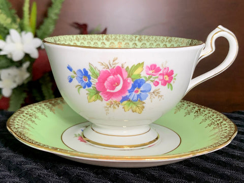Bone China Teacup, Tea Cup and Saucer - Queen Anne, Footed Teacup -J