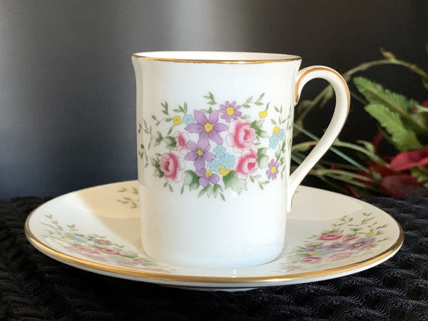 DEMITASSE Royal Doulton Teacup and Saucer, Demi / Espresso Bone China Tea Cup -J