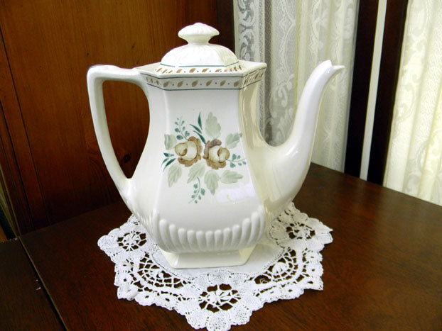 Tea or Coffee Pot, Teapot - Adams Madeleine - Vintage Porcelain Pot 8699 - The Vintage Teacup