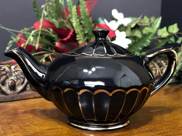 Single Serve Sadler Teapot, Vintage Tea Pot, Black One Cup Tea Pot, English Teapots -K