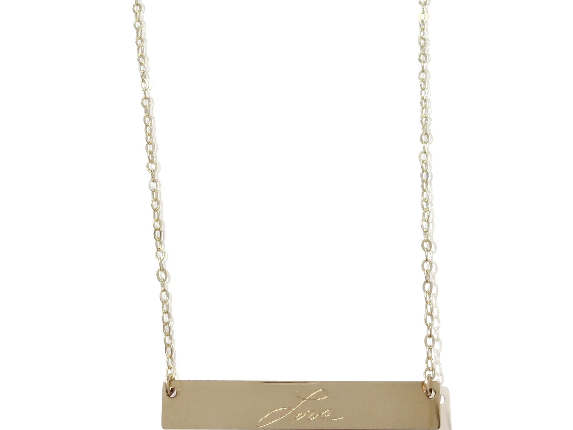 Written Bar Necklace - shopbanglejangle  - 2