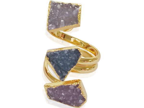 Darling Druzy Ring - shopbanglejangle  - 2