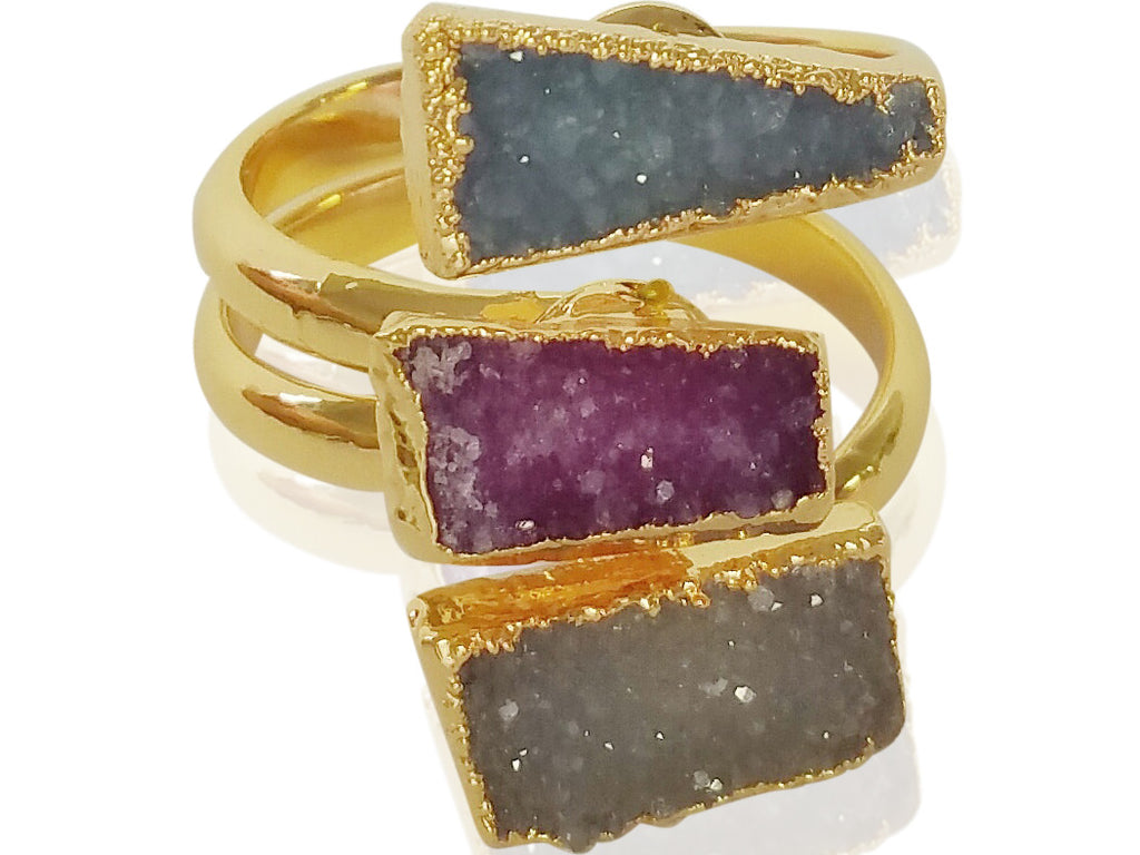 Darling Druzy Ring - shopbanglejangle  - 1