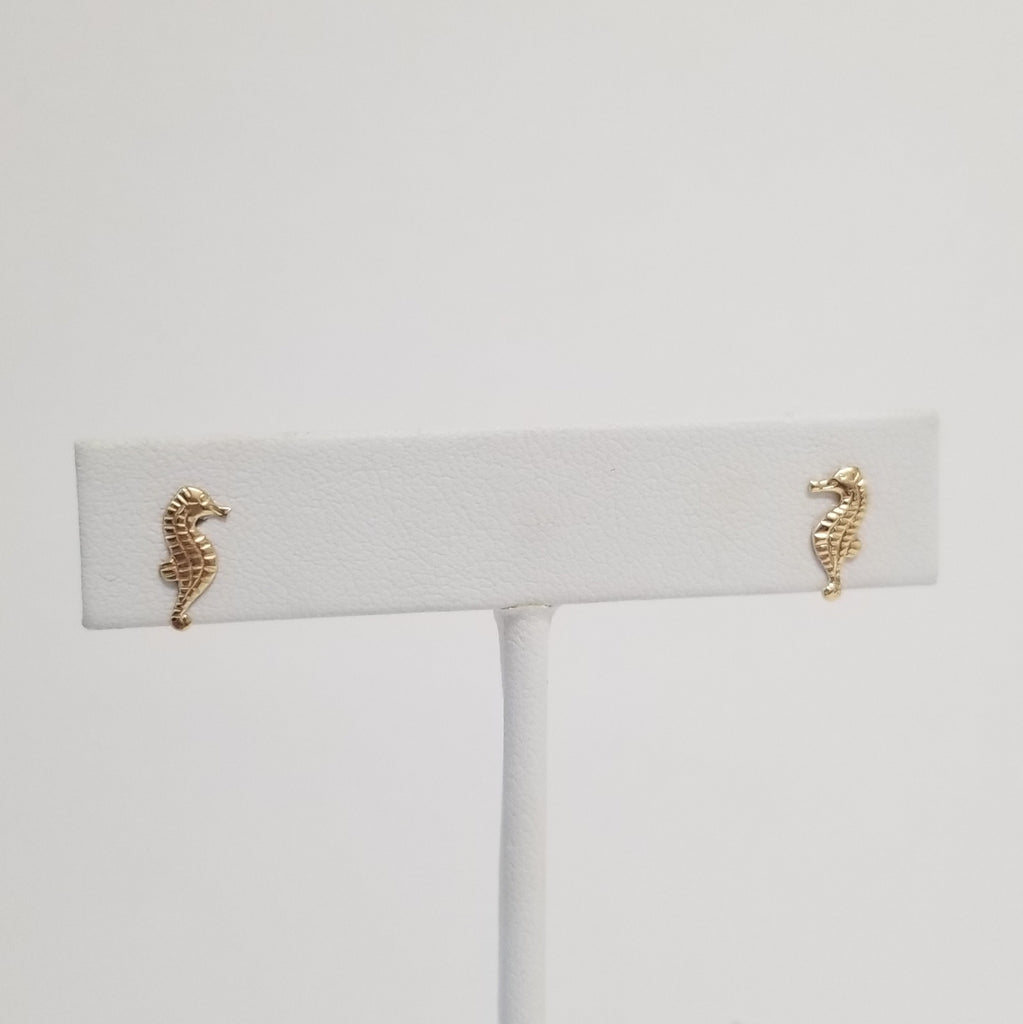 Sassy Seahorse Earrings | 14K Gold