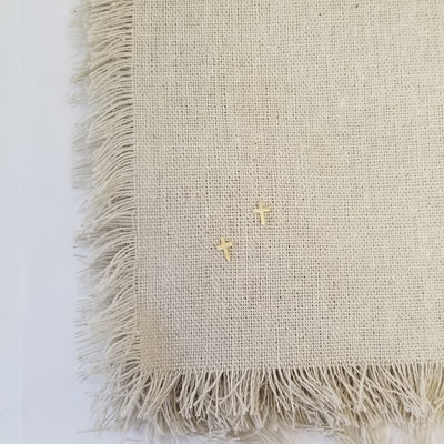 Tiny Cross Earrings | 14K Gold