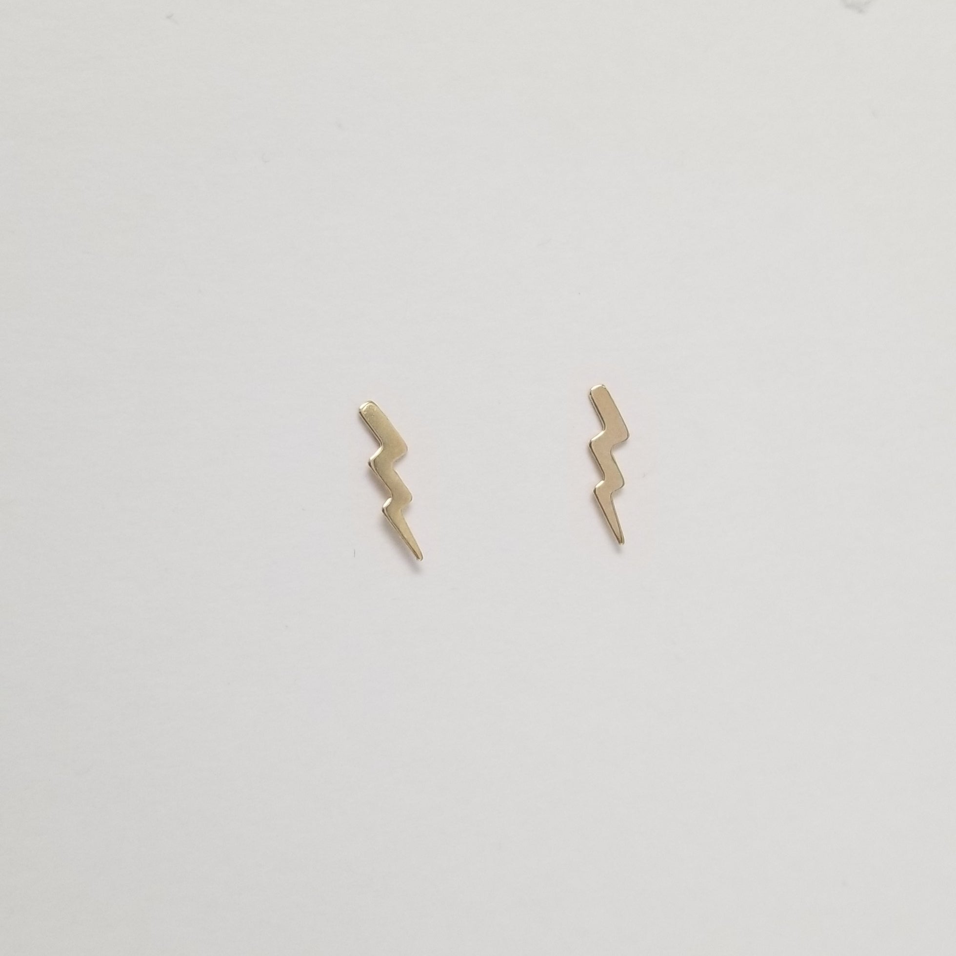 Little Lighting Studs | 14K Gold