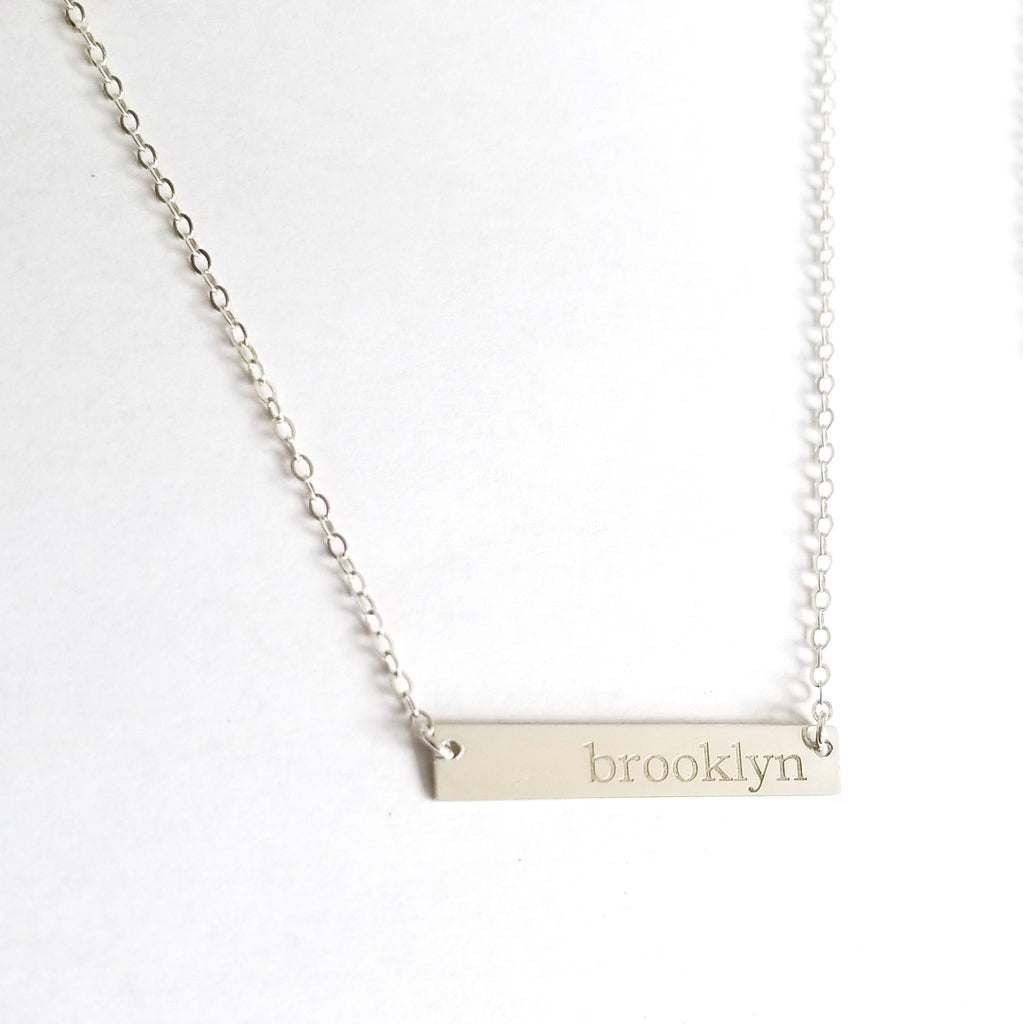Petite Name Necklace | Sterling Silver