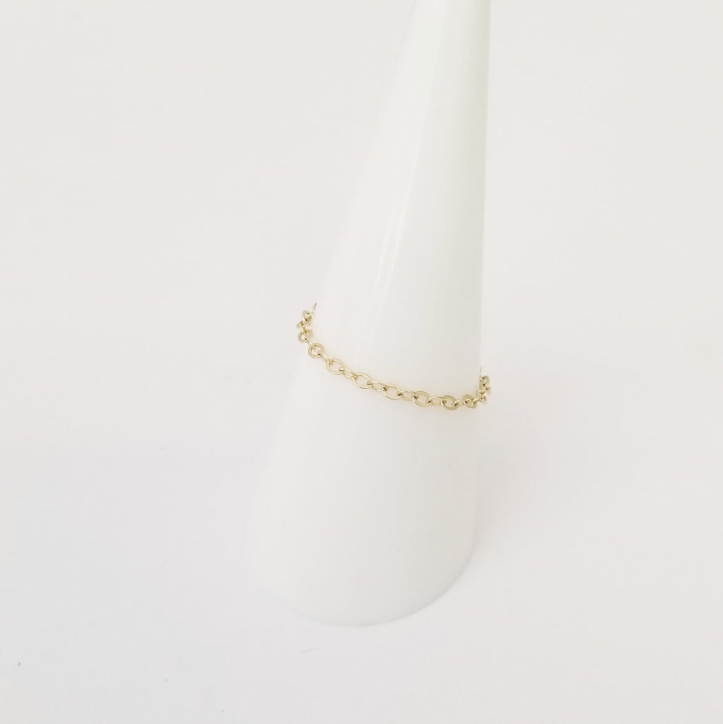Style B | Chain Ringlet™ (Solid 14K Gold)