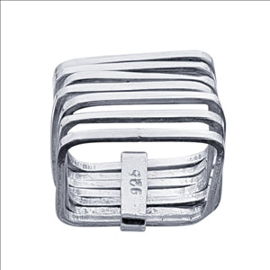 Seven Row Ring - shopbanglejangle  - 1