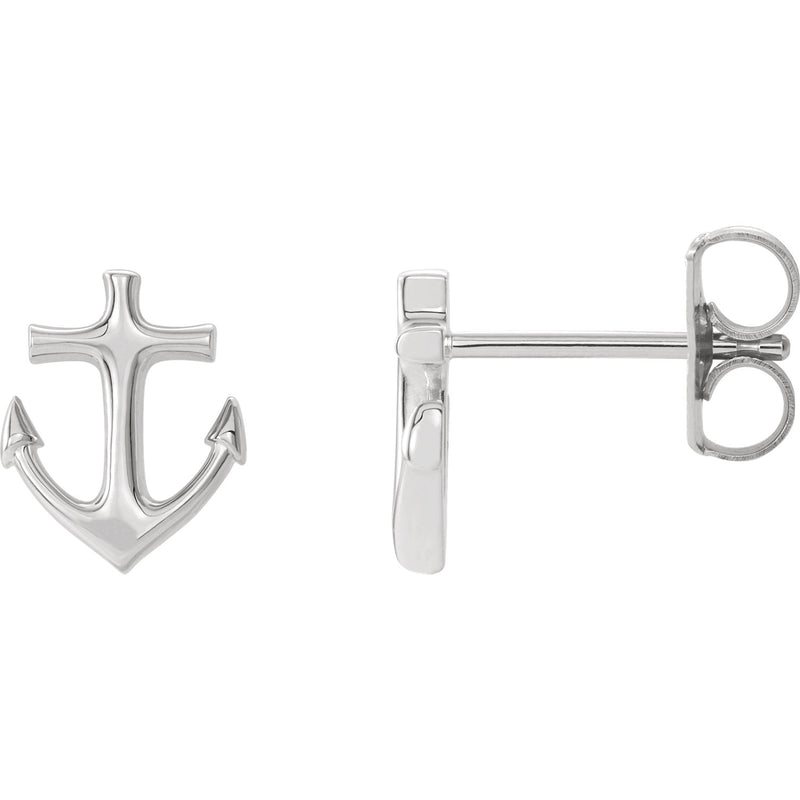 Anchor Earrings | 14K Gold