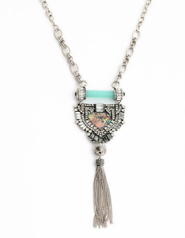 Clarissa Tassle Necklace - shopbanglejangle  - 1