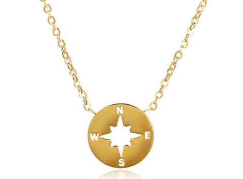 Compass Rose Necklace - shopbanglejangle  - 1