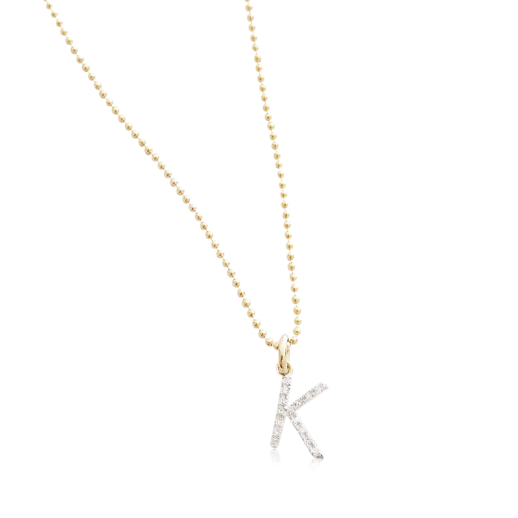 Pavé  Diamond Initial Necklace - shopbanglejangle  - 1