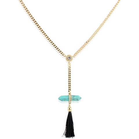 Leona Tassle Necklace - shopbanglejangle  - 1