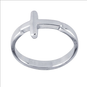 Sterling Cross Ring - shopbanglejangle  - 1