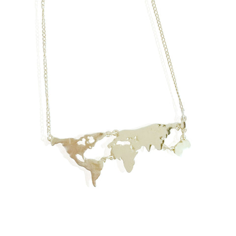 Globetrotter Map Necklace - shopbanglejangle  - 1