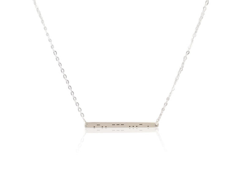 """love"" in Morse Code Necklace"