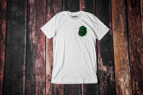 The Beast Tee (White/Black-Green)