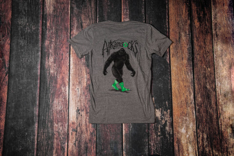The Beast Tee (Deep Heather/Black-Green)