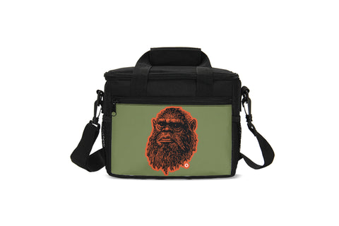 Mug Shot Insulated Lunch Bag (Olive/Black-Orange)