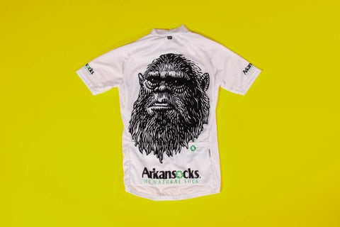 Owayo x Arkansocks Mugshot Cycling Jersey (White/Black)