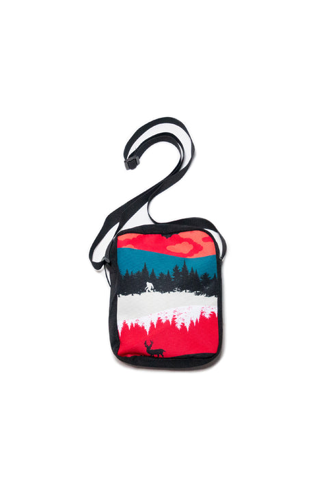 Nightfall Messenger Bag (Geode Teal/Crimson)