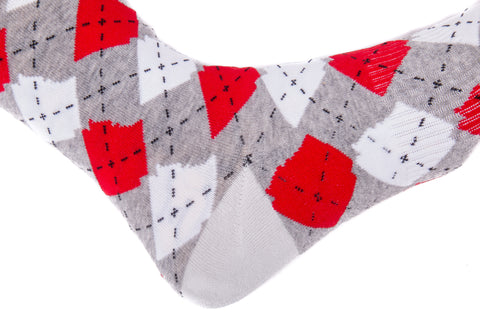 ARgyle State Of Mind (Charcoal Heather/Team Red)