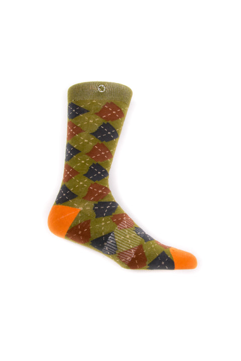 ARgyle State Of Mind (Deep Mandarin/Olive)