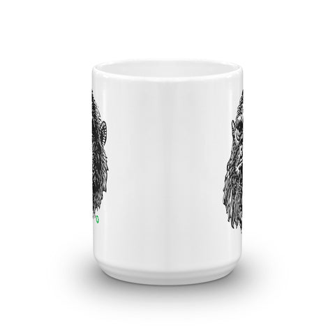 Mug Shot Mug (White/Black)