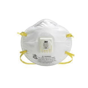 3M 8210V N95 Particulate Disposable Respirator With Cool Flow Exhalation Valve - NIOSH 42CFR84 (10 Each Per Box)