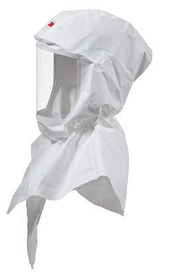 3M White Versaflo S-Series Replacement Painter's Hood With Inner Shroud For Use With Premium Head Suspension