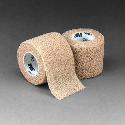 "3M 2"" X 5 Yards Tan Coban Self-Adherent Wrap (36 Per Case)"